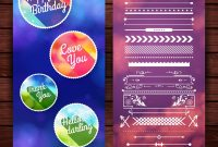 Happy Birthday Labels Template Royalty Free Vector Image pertaining to Birthday Labels Template Free