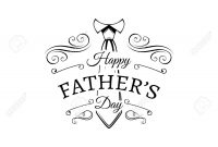 Happy Fathers Day Card Design With Necktie Vector Illustration throughout Fathers Day Card Template