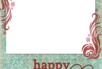 Happy Holidays Blue Red  Freebies   Christmas Card Template intended for Happy Holidays Card Template