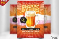 Happy Hour Promotion Flyer Psd Templatepsd Zone  Dribbble intended for Happy Hour Menu Template