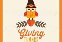 Happy Thanksgiving Day Card Poster Or Menu Template In Cream pertaining to Thanksgiving Day Menu Template