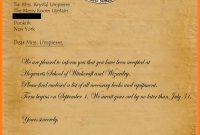 Harry Potter Acceptance Letter Font Free Download  Plasticmouldings in Harry Potter Certificate Template