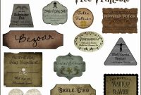 Harry Potter Potion Label Printables with regard to Potion Label Template