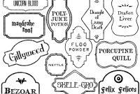 Harry Potter Potion Labels Printable  Paper Trail Design with regard to Harry Potter Potion Labels Templates