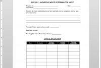 Hazardous Waste Determination Worksheet Template with regard to Threat Assessment Report Template