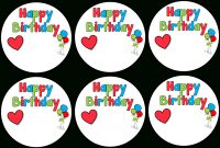 Hd Birthday Labels  Happy Birthday Sticker Template  Free with regard to Birthday Labels Template Free
