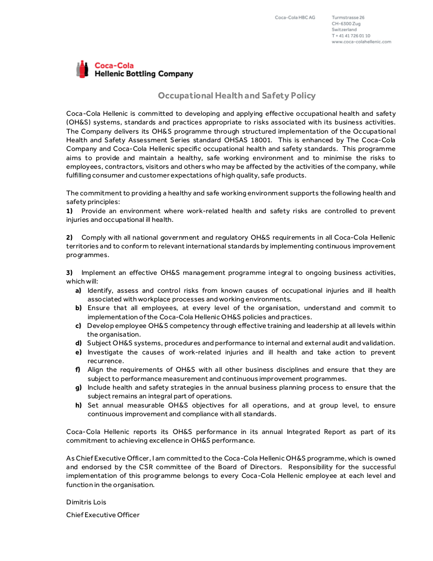 Health And Safety Policy Examples  Samples  Examples Within Health And Safety Board Report Template