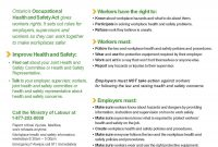 Health And Safety Training Online – Employment North intended for Health And Safety Board Report Template