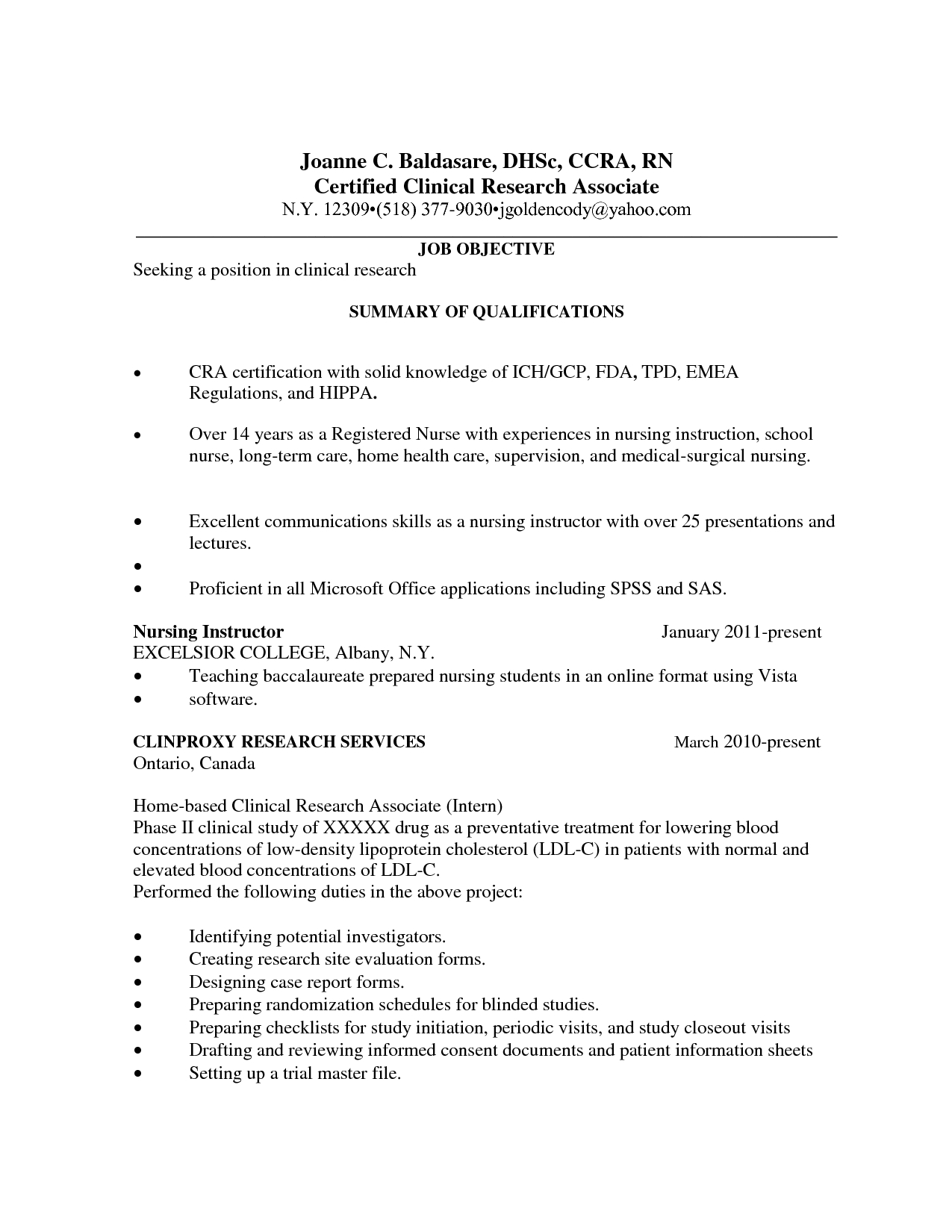 Health Care Resume Templates Research Coordinator Associate In For Trial Report Template