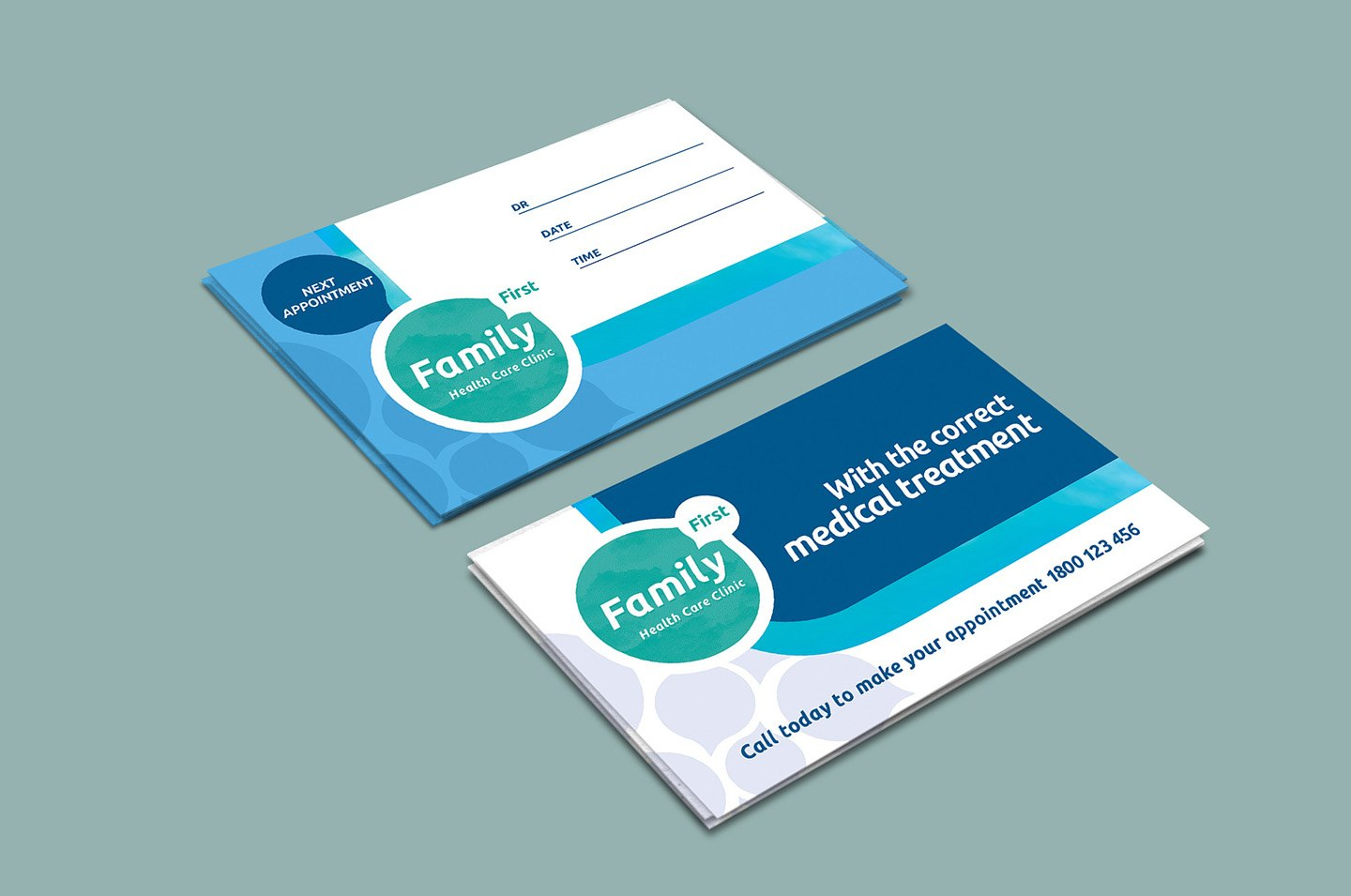 Healthcare Clinic Appointment Card Template In Psd Ai  Vector In Medical Appointment Card Template Free