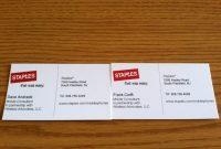 Heavyweight Business Card Stock Elegant Staple Cards Template inside Staples Business Card Template
