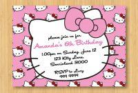 Hello Kitty Birthday Invitations Printable Free – Invitation in Hello Kitty Birthday Card Template Free