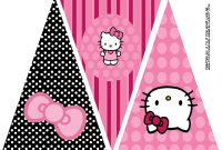 Hello Kitty Birthday Party Banner This Is One Of  Printable within Hello Kitty Banner Template