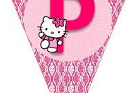 Hello Kitty Free Printable Bunting Banderines De Hello Kitty with Hello Kitty Birthday Banner Template Free