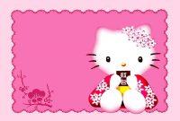 Hello Kitty Invitations Templates Free  Sansurabionetassociats throughout Hello Kitty Birthday Banner Template Free