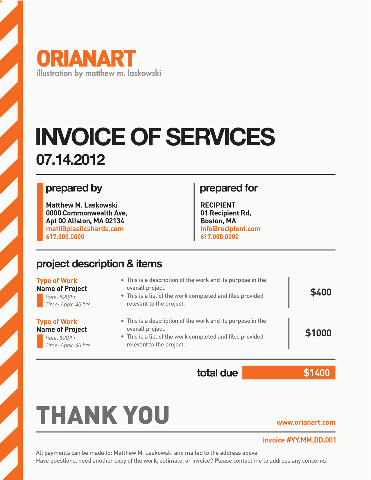 Here's A Blank Example Of The Invoice That I Send To Clients After With Regard To Invoice Template For Graphic Designer Freelance