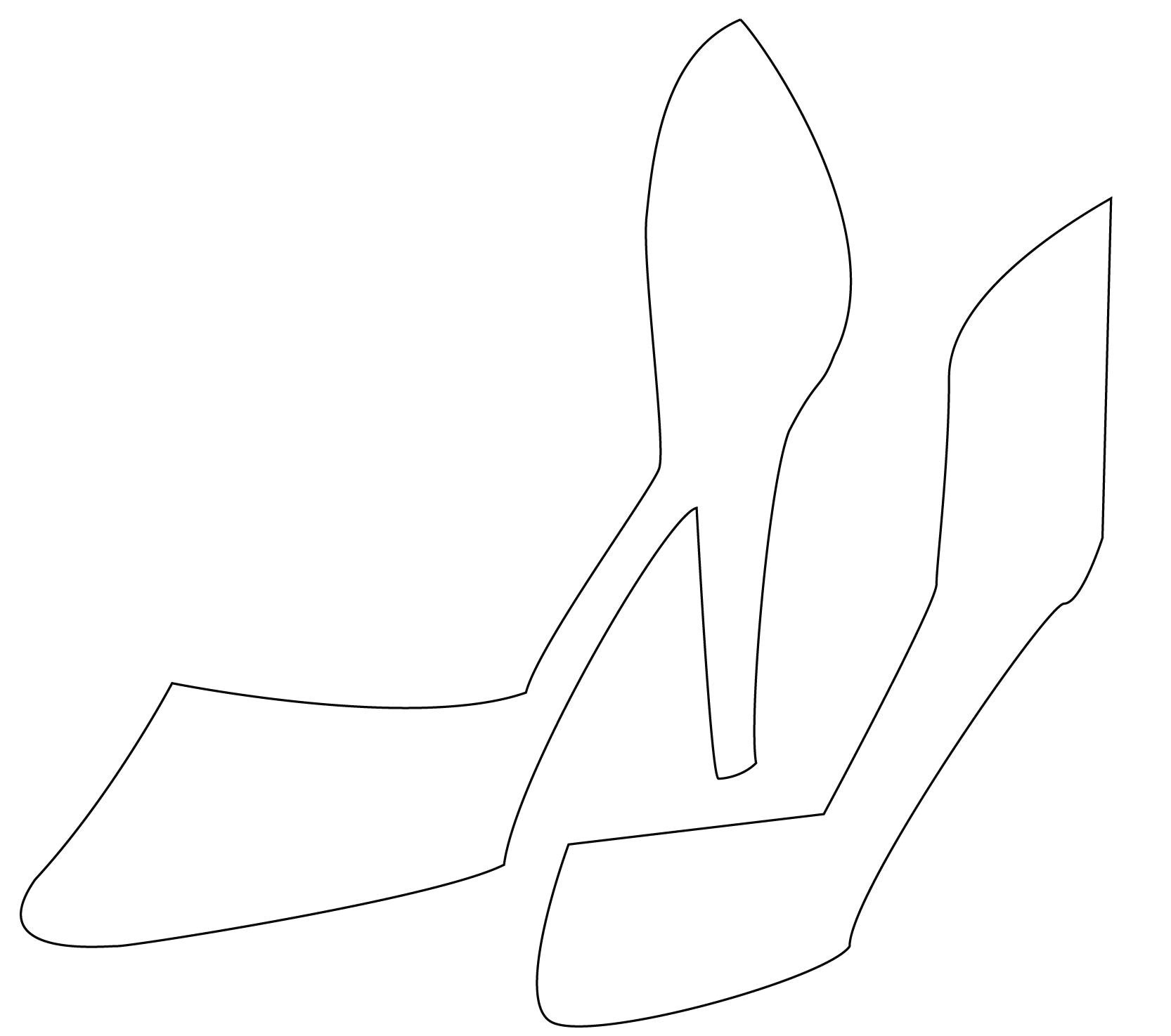 High Heel Drawing Template At Paintingvalley  Explore Within High Heel Template For Cards