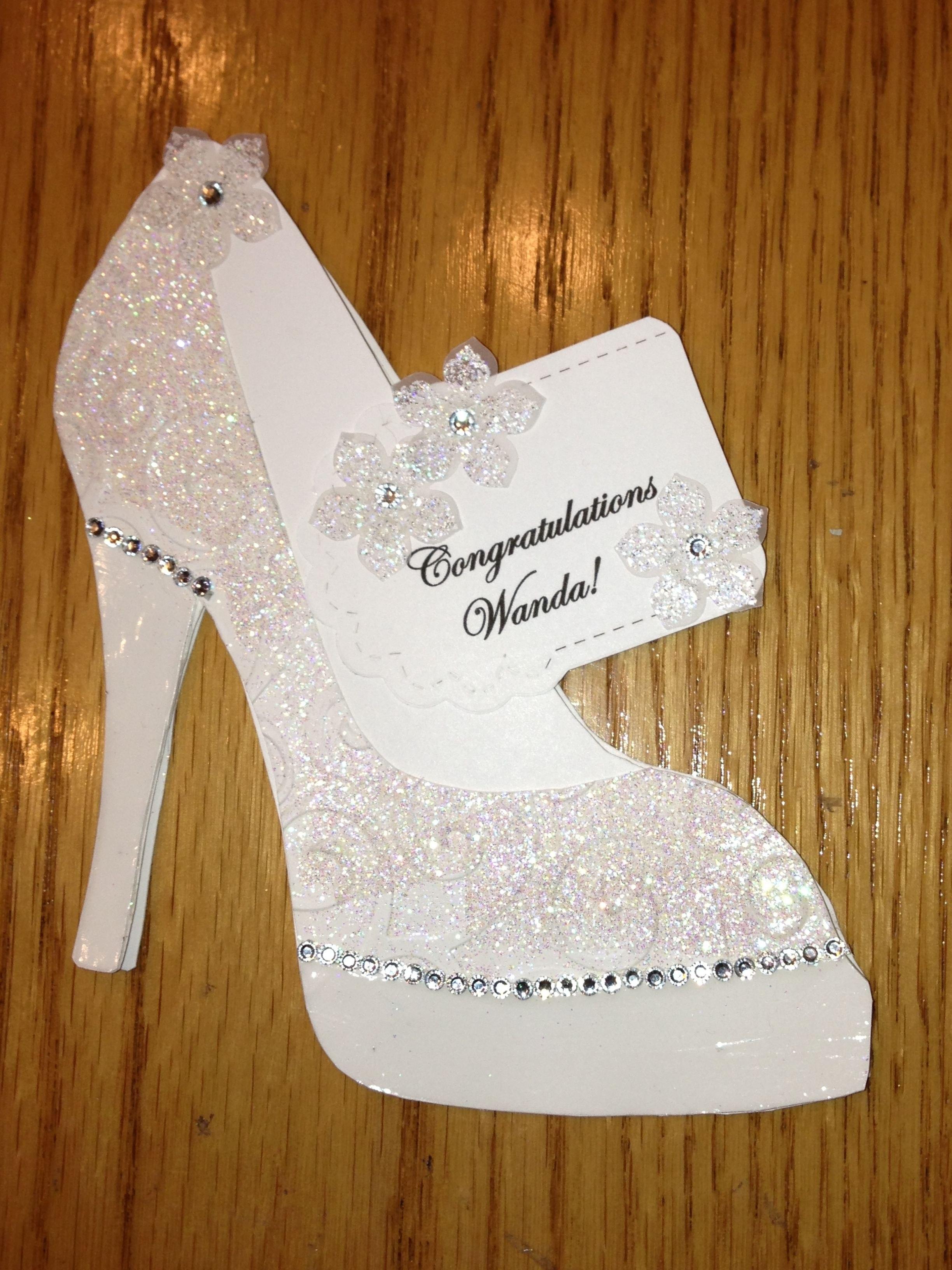 High Heel Shoe Card  Bridal Shower Tanya Bell's High Heel Shoe Throughout High Heel Template For Cards