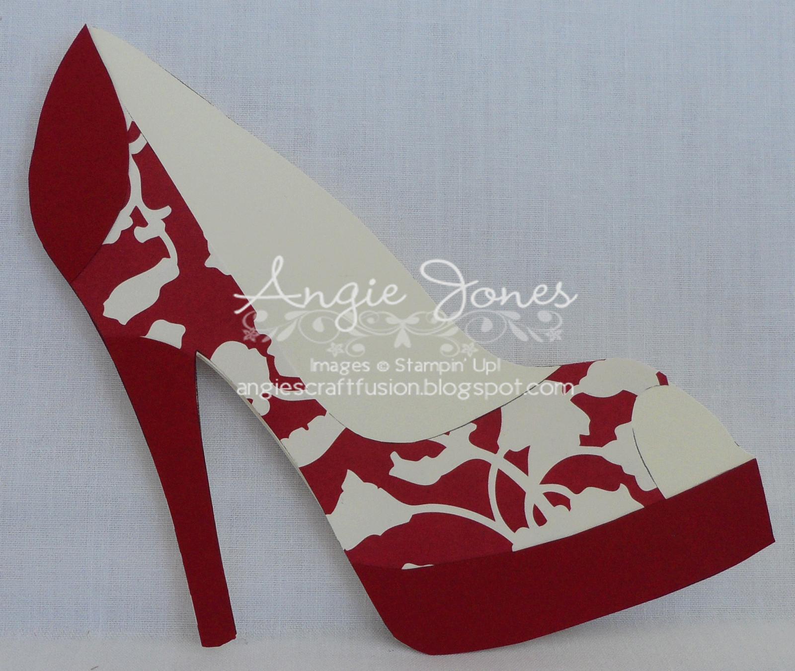 High Heel Shoe Card  Shoe Decor  Shoe Template Paper Shoes Shoes For High Heel Template For Cards