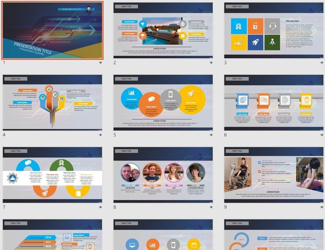 High Tech Powerpoint Template   Sagefox Free Powerpoint Throughout High Tech Powerpoint Template