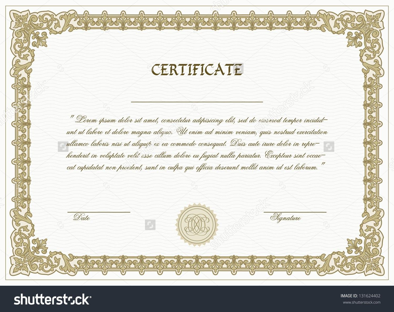 Highresolutionhighresprintablecertificatetemplatedownload Intended For High Resolution Certificate Template