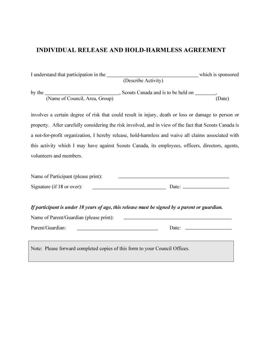 Hold Harmless Agreement Templates Free ᐅ Template Lab Inside Risk Participation Agreement Template