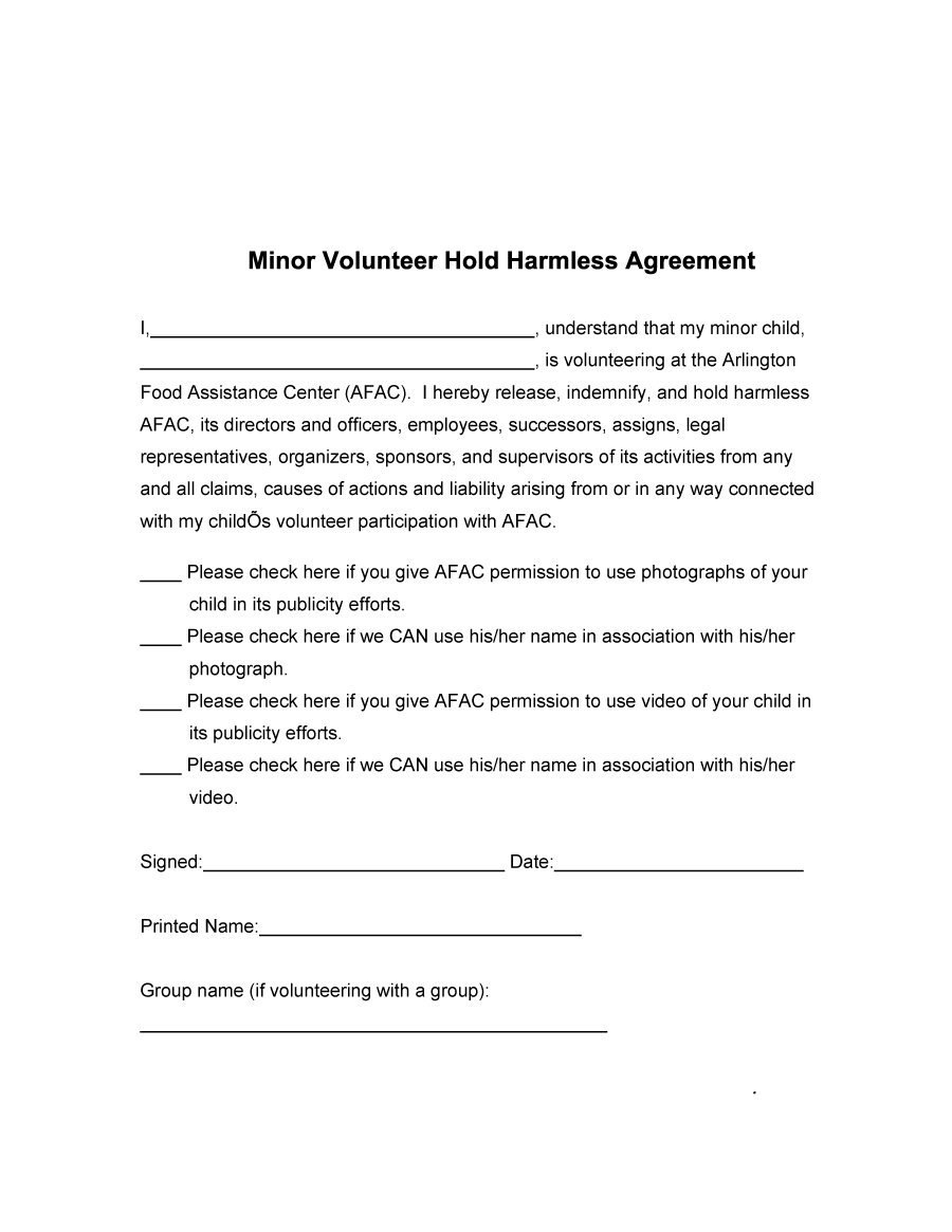 Hold Harmless Agreement Templates Free ᐅ Template Lab Throughout Simple Hold Harmless Agreement Template