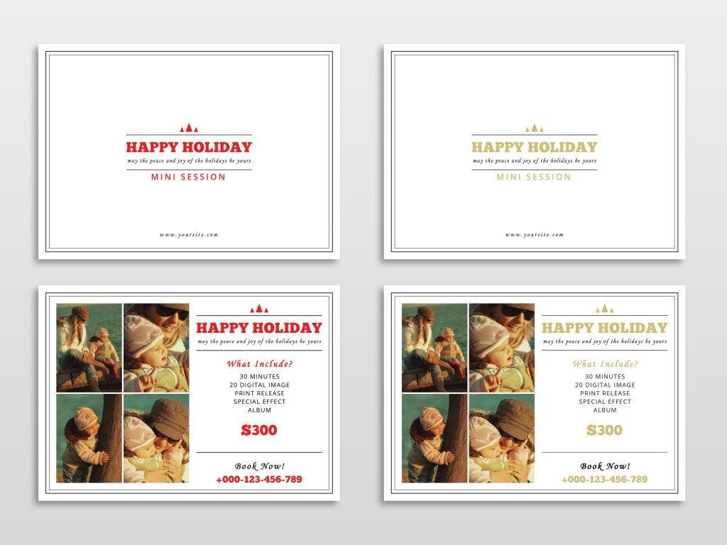 Holiday Card Templates For Photographers To Use This Year Throughout Free Photoshop Christmas Card Templates For Photographers