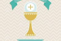 Holy Communion Card Template Stock Vector  Illustration Of Design with regard to First Holy Communion Banner Templates