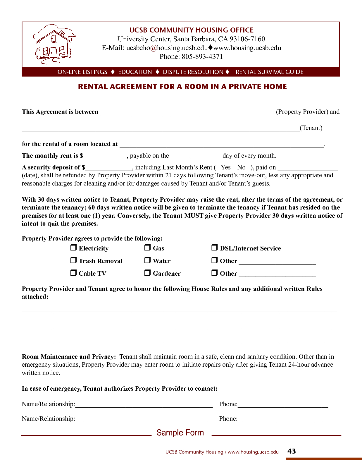 Home Rental Lease Agreements For Private Room Room Rental Agreement Regarding Private Rental Agreement Template