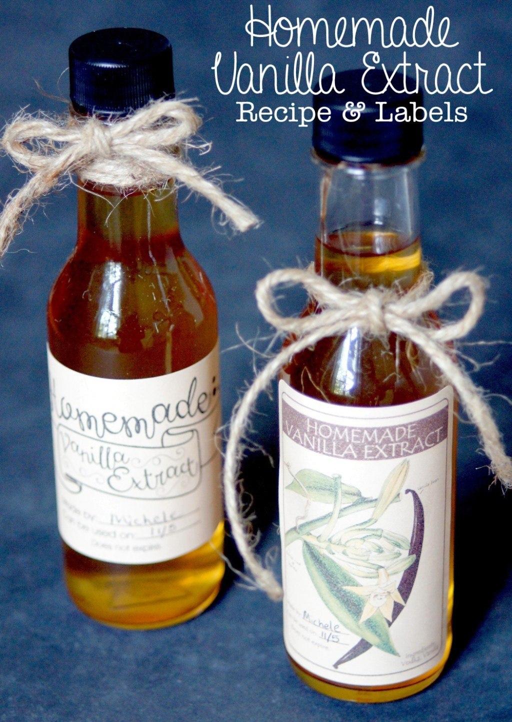 Homemade Vanilla Extract Recipe  Labels Regarding Homemade Vanilla Extract Label Template