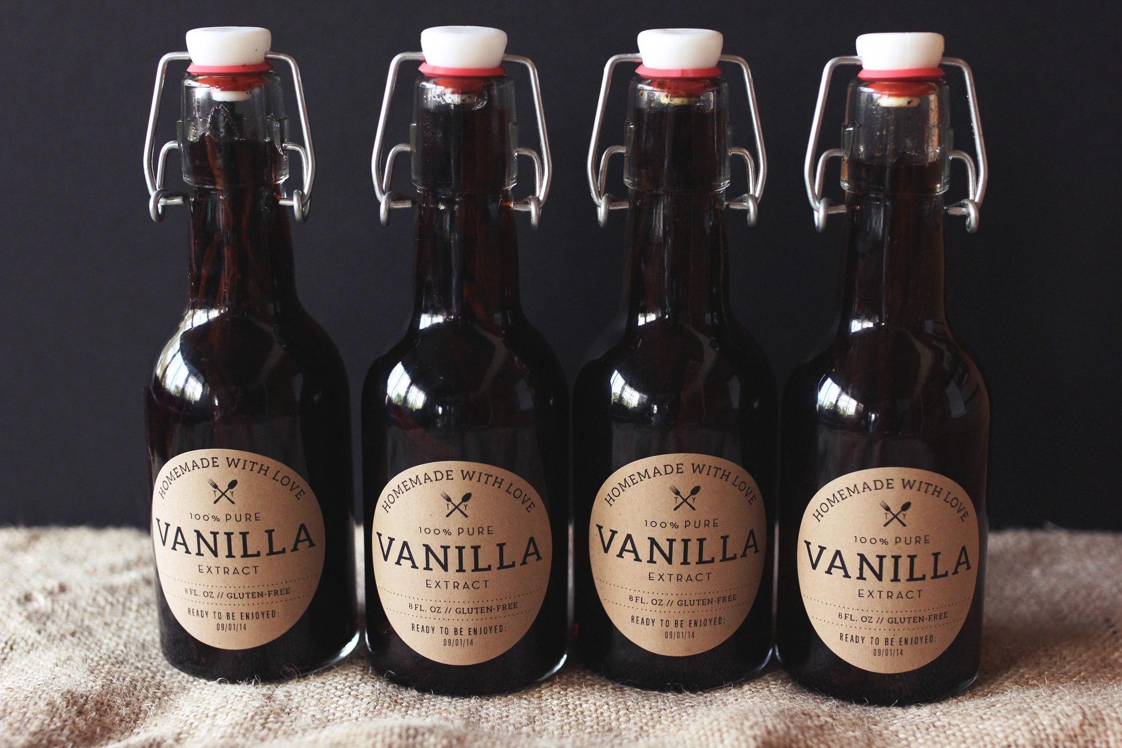Homemade Vanilla Extract Recipe  Tasty Yummies Howto Throughout Homemade Vanilla Extract Label Template