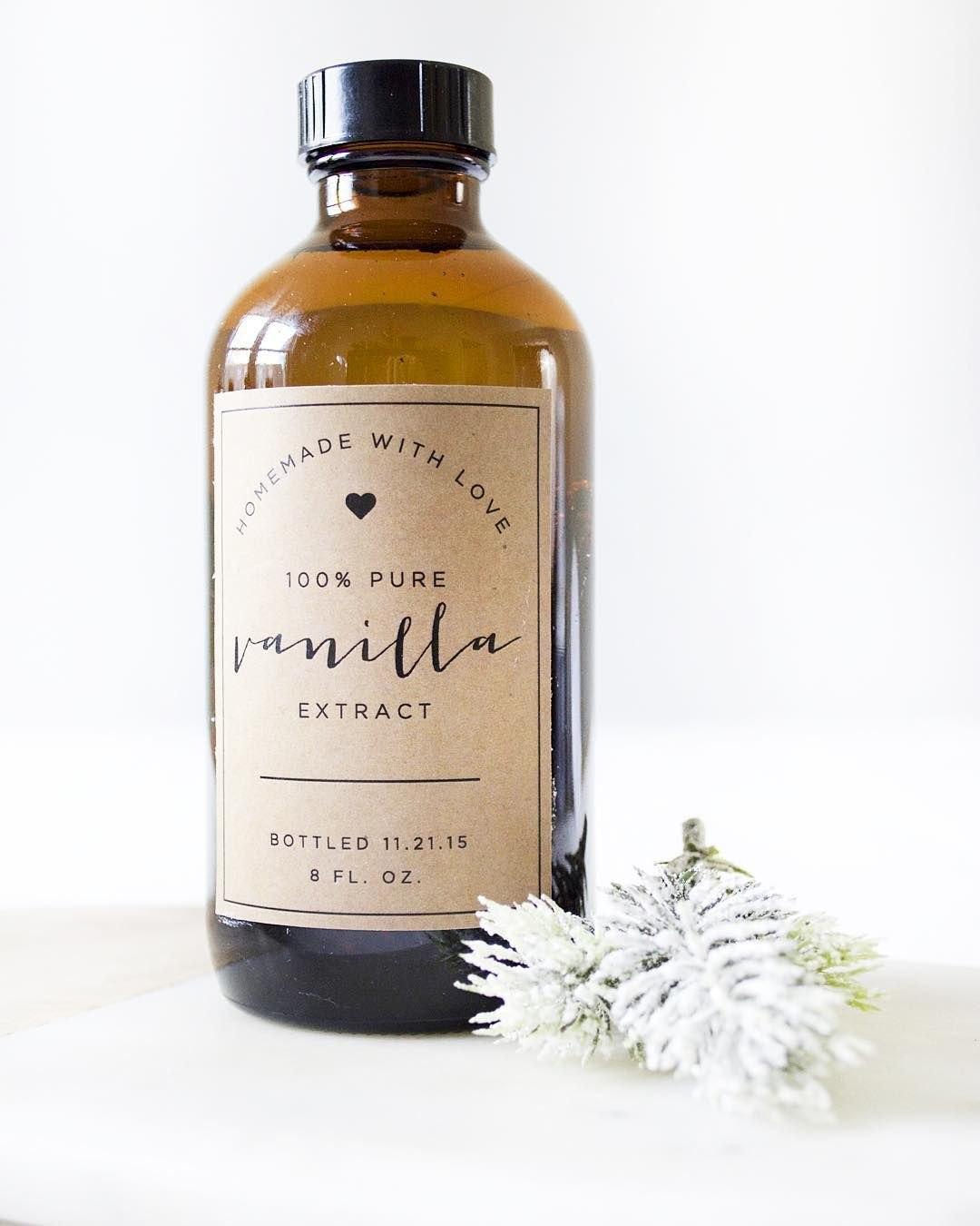 Homemade Vanilla  Free Printable Labels  Diy Stocking Stuffers Pertaining To Homemade Vanilla Extract Label Template