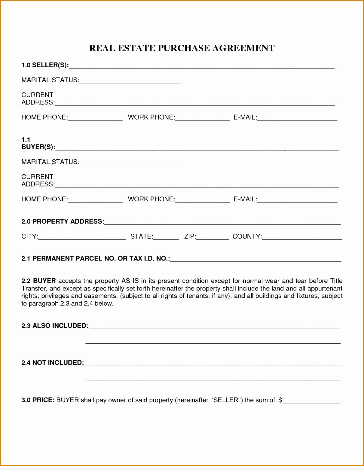 Homerchase Agreement Template Ideas Simple Real Estate Sales Throughout Mobile Home Purchase Agreement Template