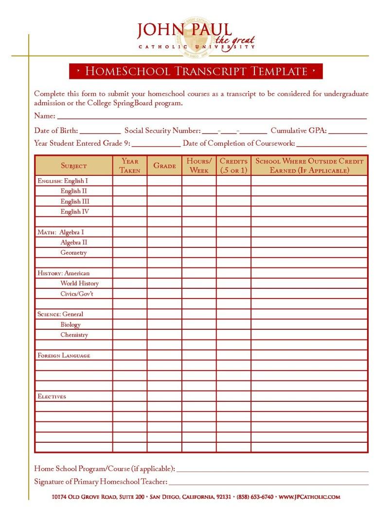 Homeschool Report Card Template Free Ideas For High School Throughout Report Card Template Middle School