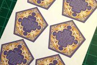 Honeyduke's Chocolate Frog Cards  Steps with Chocolate Frog Card Template