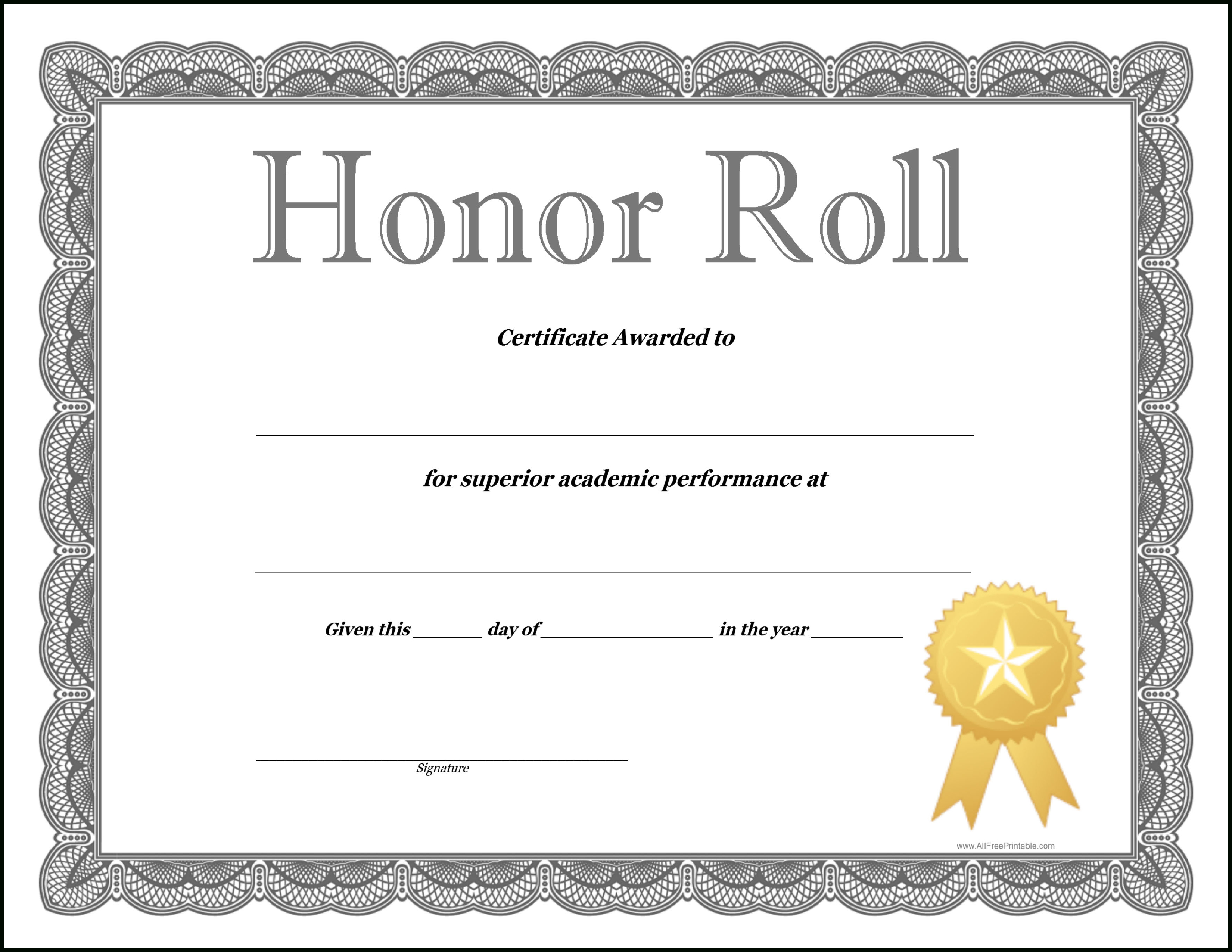 Honor Roll Certificate Template  How To Craft A Professional Intended For Professional Award Certificate Template