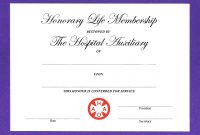 Honorary Life Certificate Templates  Pdf Docx  Free  Premium throughout New Member Certificate Template