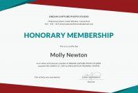 Honorary Member Certificate  Sansurabionetassociats pertaining to New Member Certificate Template