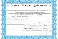 Honorary Membership Certificate Template Word intended for New Member Certificate Template