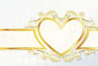 Horizontal Rococo Wedding Banner With Heart Emblem Stock Vector in Wedding Banner Design Templates