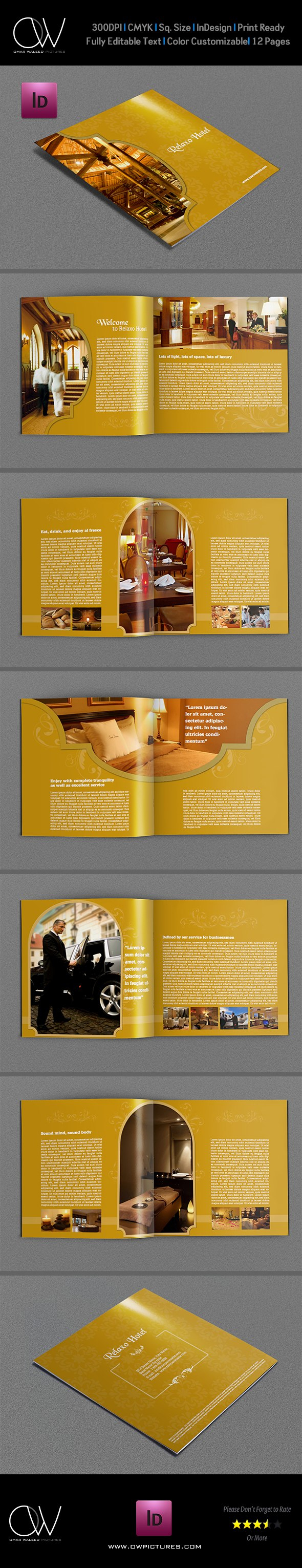 Hotel And Motel Brochure Template   Pages On Behance Pertaining To 12 Page Brochure Template