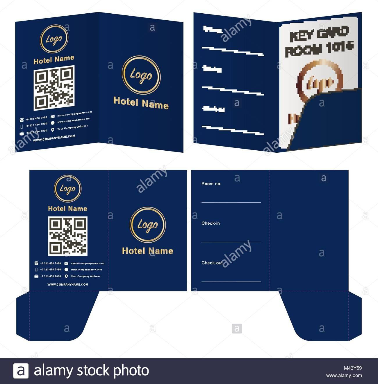 Hotel Key Card Holder Folder Package Template Stock Vector Art Inside Hotel Key Card Template