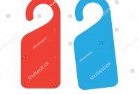 Hotel Room Door Hangers Template Label Stock Vector Royalty Free pertaining to Door Label Template