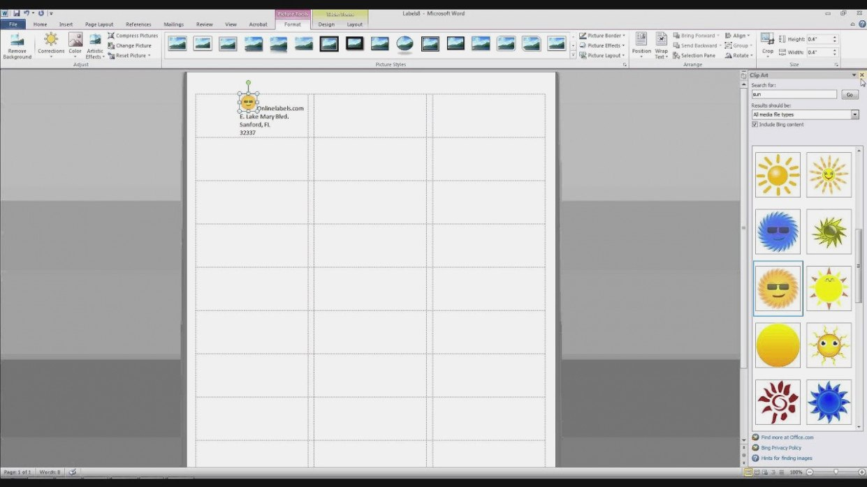 How To Add Images And Text To Label Templates In Microsoft Word With Regard To Creating Label Templates In Word