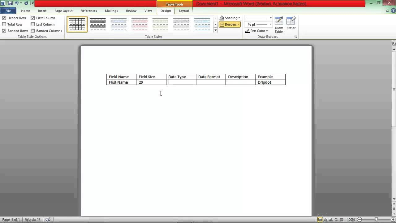 How To Create A Data Dictionary  Youtube Pertaining To Business Data Dictionary Template