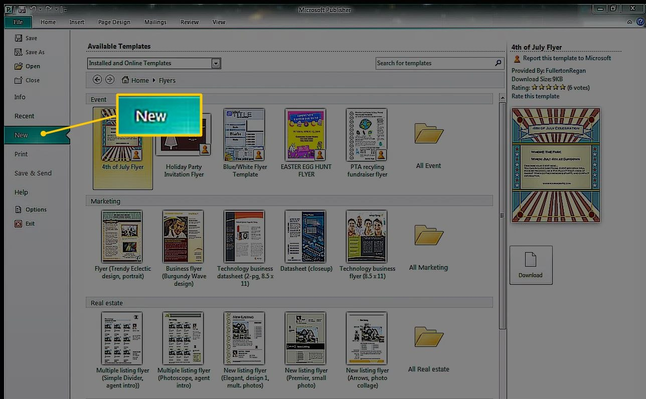How To Create A Greeting Card In Microsoft Publisher With Birthday Card Publisher Template