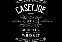 How To Create A Jack Danielsinspired Whiskey Label In Adobe for Jack Daniels Label Template