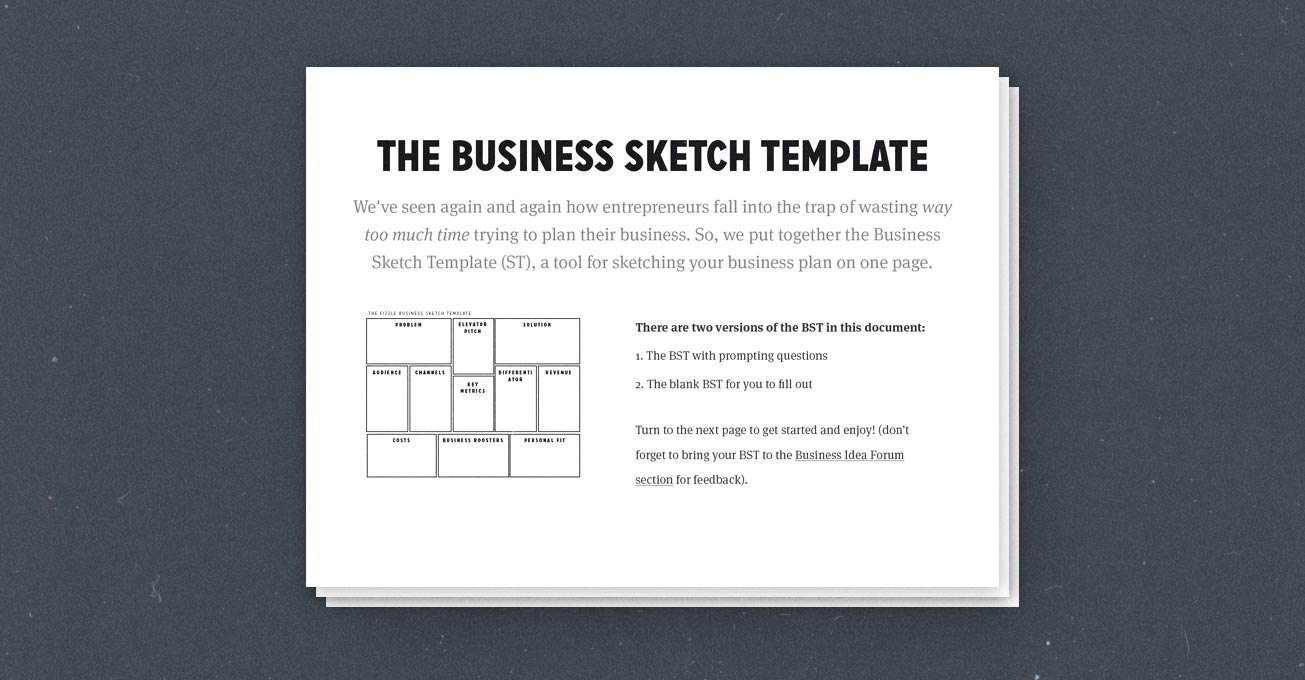How To Create A Simple Effective Onepage Business Plan Use This Intended For 1 Page Business Plan Templates Free