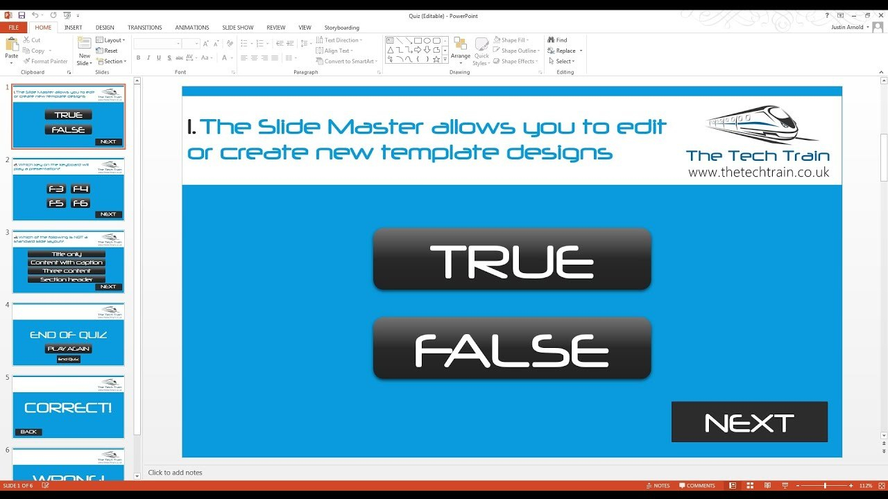 How To Create An Interactive Quiz In Powerpoint  Youtube Within Powerpoint Quiz Template Free Download